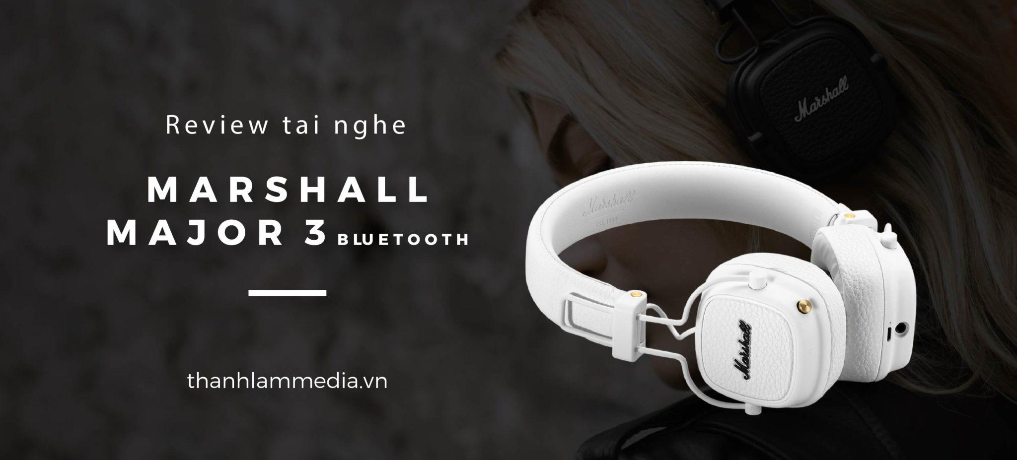 Marshall Major 3 Bluetooth - Tai nghe nhỏ gọn, tiện lợi với dải âm cao tuyệt vời 1